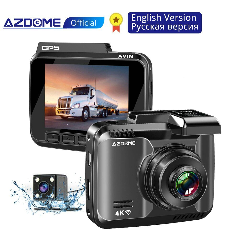 AZDOME GS63H 4K 2160P Dash Cam Gebaut in WiFi GPS Auto Dashboard Kamera Recorder 2,4