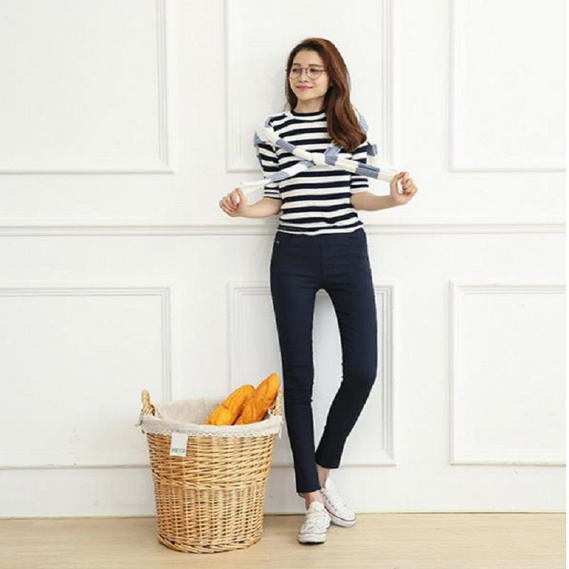 2018 NEW ECTIC A048 Women's tight pants. Casual chic pencil pants for women.