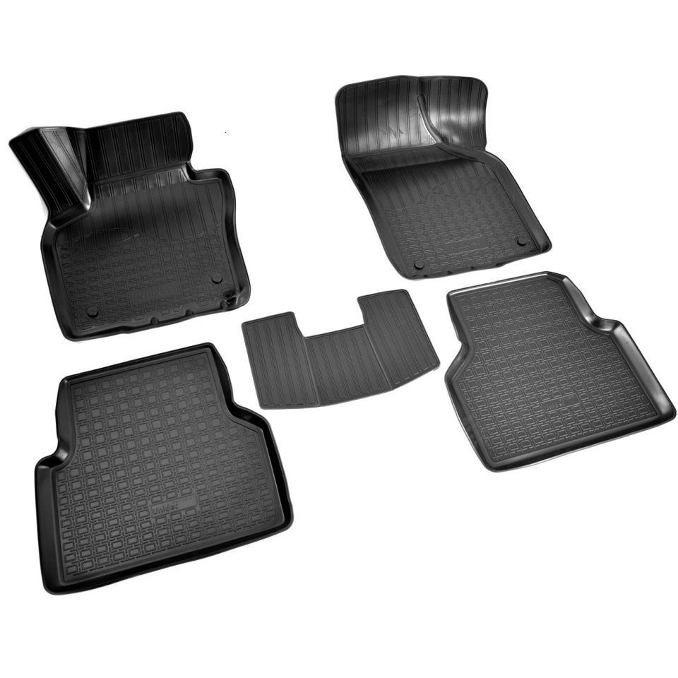 Für Volkswagen Tiguan 2011-2016 3D boden matten in saloon 5 teile/satz Norplast Unidec NPA11C95511