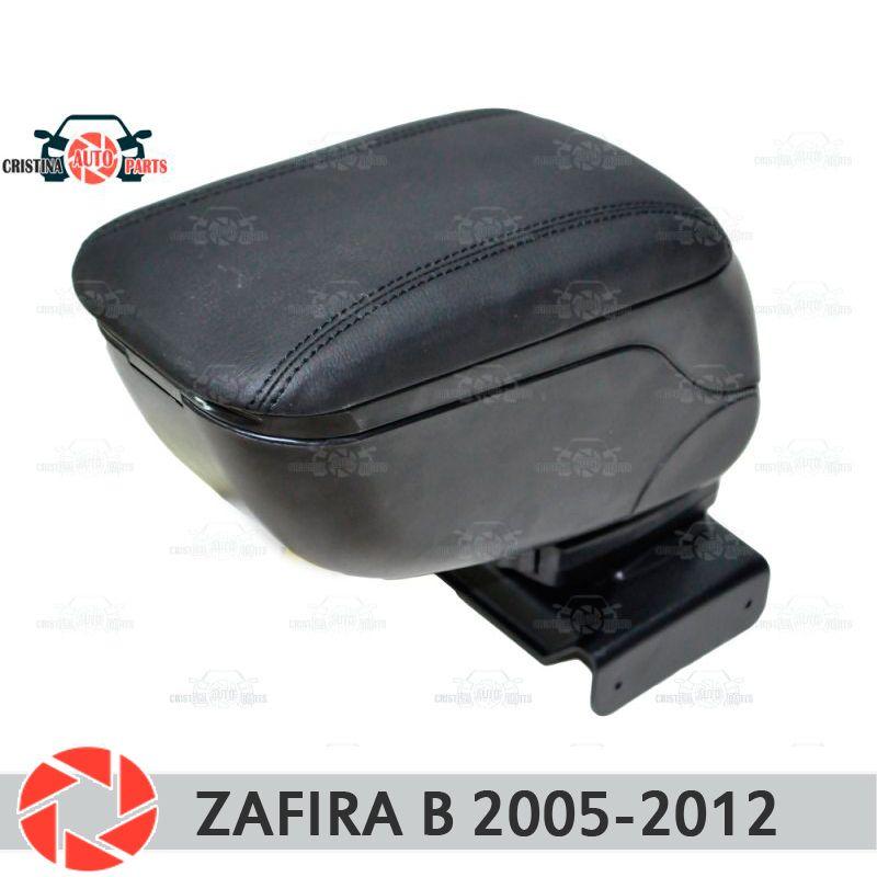 Für Opel Zafira B 2005-2012 auto armlehne zentrale konsole leder lagerung box aschenbecher zubehör auto styling