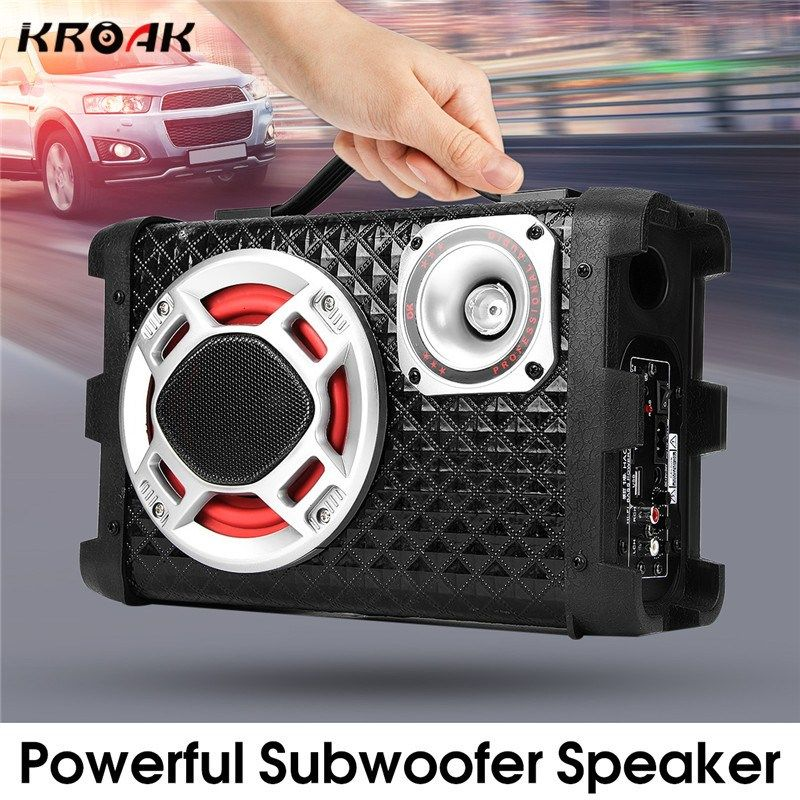 5 Inch Car Subwoofer Speakers 12V/24V/220V High Power 120W Universal Active Subwoofer Car Audio with Remote Control