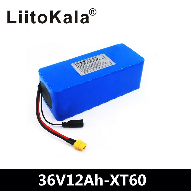 LiitoKala 36 V 12ah 10S4P Lelectric fahrrad batterie pack 18650 Li-Ion Batterie 500 W High Power 42 V Motorrad Scoote XT60 Stecker