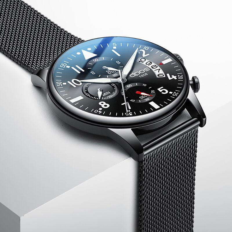 Montre homme chronographe pour acier inoxydable militaire hommes montre 2019 Top marque de luxe homme montre bracelet étanche Relogio Masculino