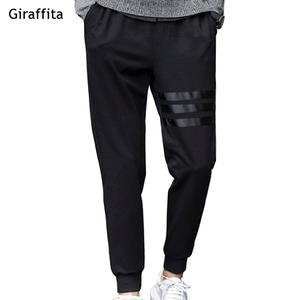 Giraffita весна дышащие штаны skinnly карандаш Брюки для девочек Для мужчин Slim Fit Повседневные штаны для мужчин прямо лосины карандаш Средства уход...
