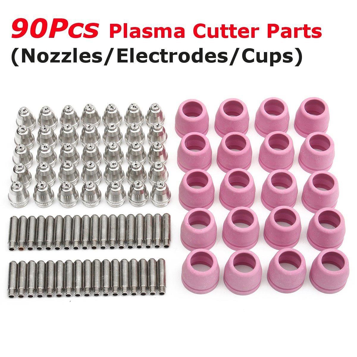ARC Plasma Cutter Verbrauchs Kit 35 stücke Schweißen Düsen + 35 stücke Elektroden + 20 stücke Schild Tassen für LTP5000D LTPDC2000 LTPAC2500