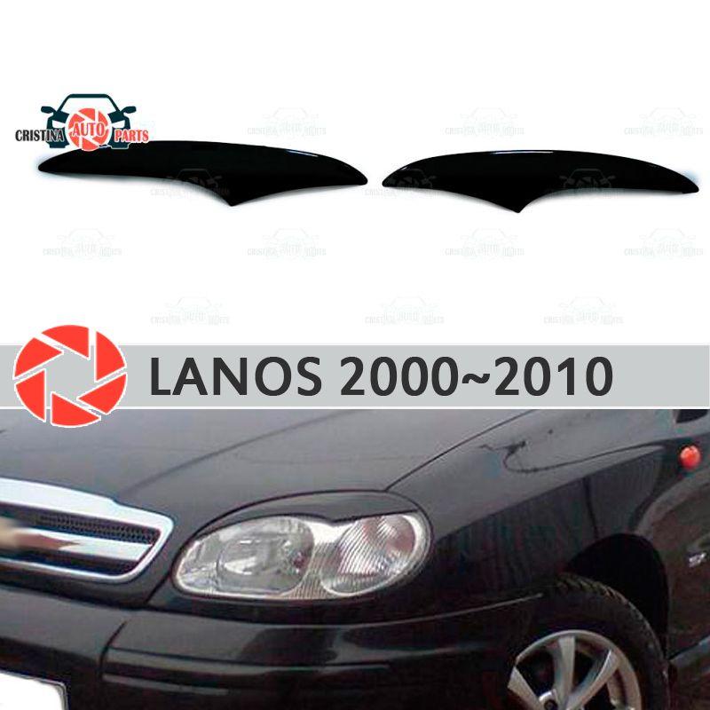 Augenbrauen für Chevrolet Lanos 2000 ~ 2010 für scheinwerfer zilien wimpern kunststoff formteile dekoration trim auto styling form