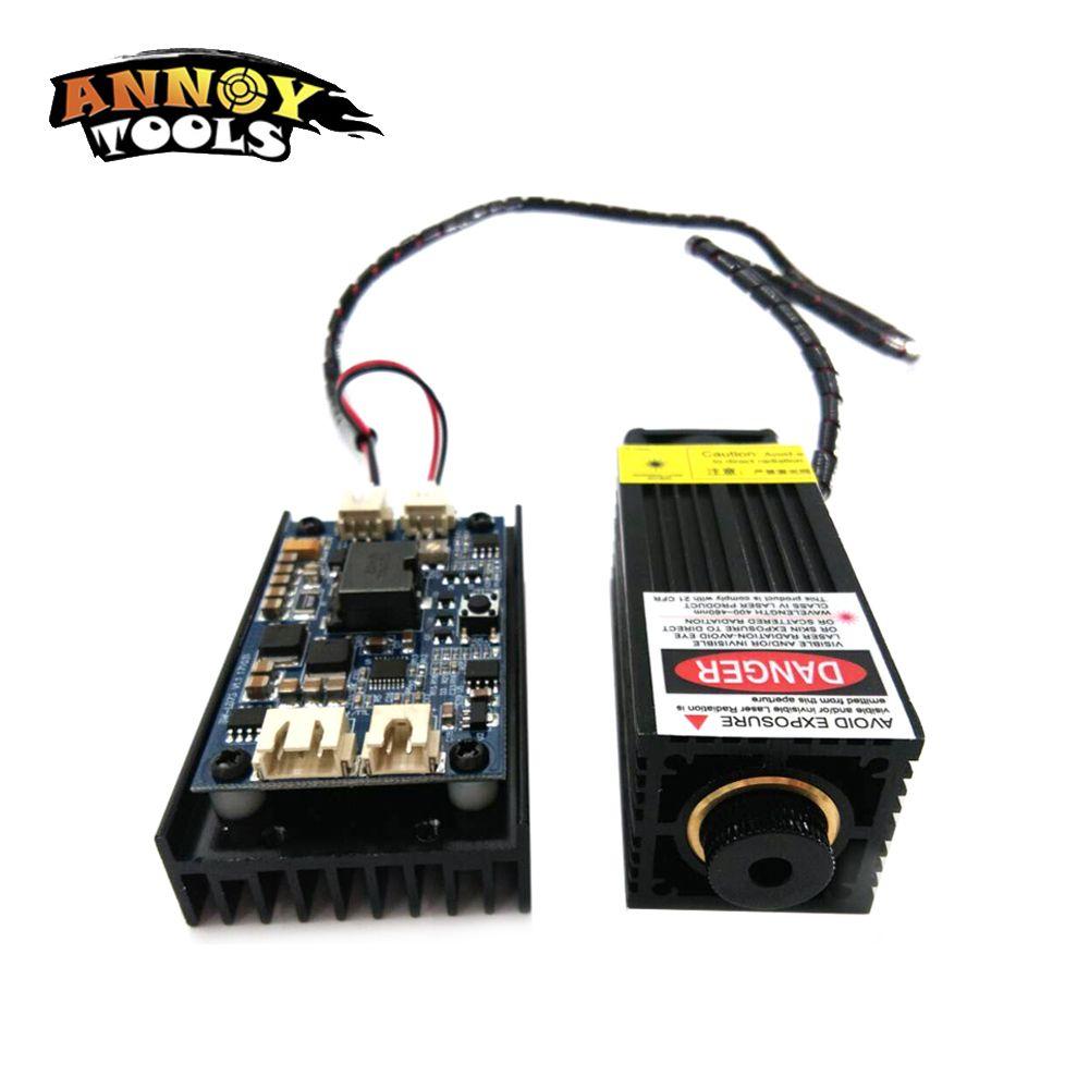 450nm 5500mW 12V High Power TTL Adjustable Focus Blue Laser Module DIY Laser Engraver Accessories 5.5W Laser Head