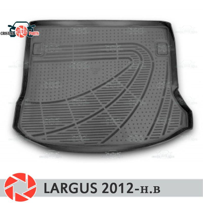 Für Lada Largus 2012-2018 stamm matte boden teppiche non slip polyurethan schmutz schutz innen trunk auto styling