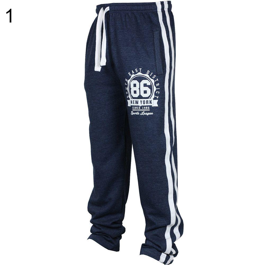 Männer Mode Jogginghose Casual Hosen Kordelzug Striped Lange Hosen