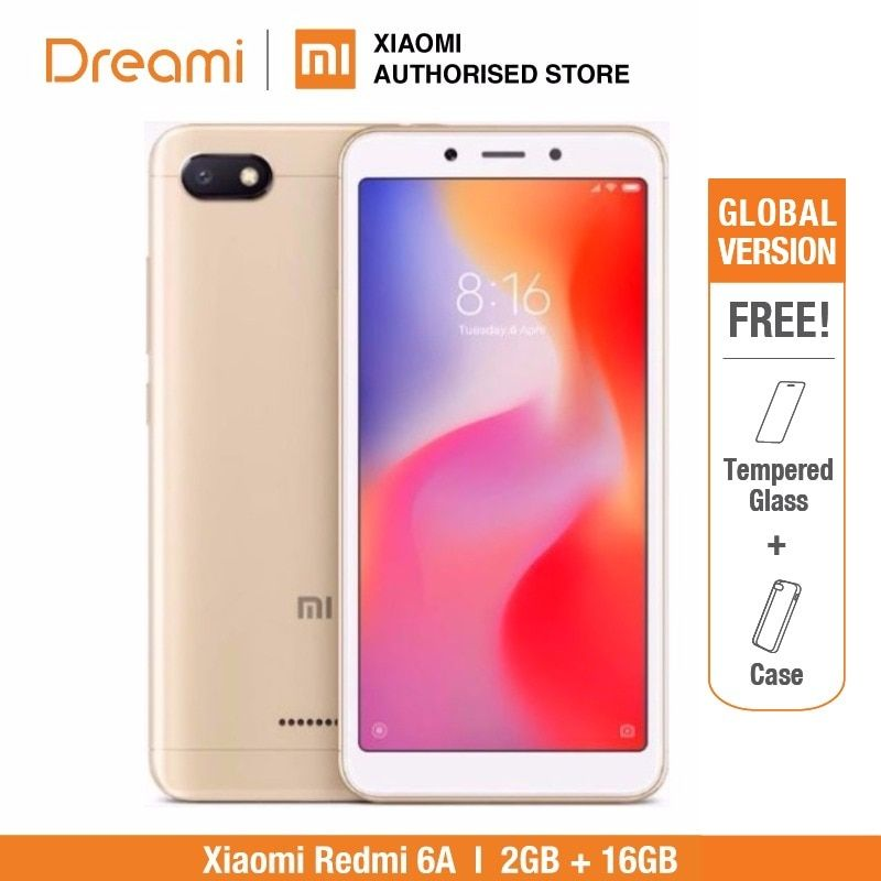 Global Version Xiaomi Redmi 6A 16GB ROM 2GB RAM (Brand New and Sealed) Redmi6a 16GB