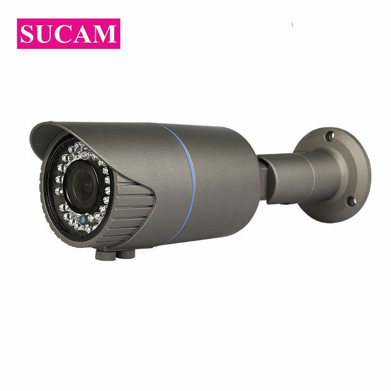 SUCAM 4MP Analog Varifocal Video Security Camera AHD Bullet 2.8-12mm Lens Water Proof OV4689 CMOS Sensor CCTV-Camera Zoom 30M IR