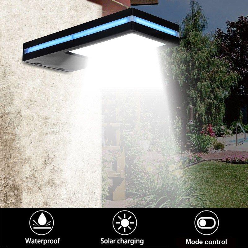Impermeable Sensor de Movimiento PIR Con Energía Solar 144 LED Luz Solar Al Aire Libre LLEVÓ la Luz Del Jardín Lámpara De Pared De Emergencia DC3.7V