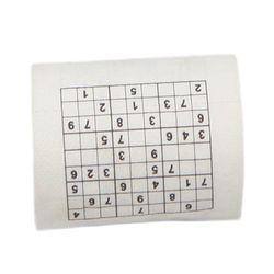 Nouveau Arrivent 2 couche Matériel De Pâte De Bois Creative Drôle Jeu Sudoku rouleau De Papier Hygiénique Rouleau Jeu Mouchoirs Nouveauté Cadeau