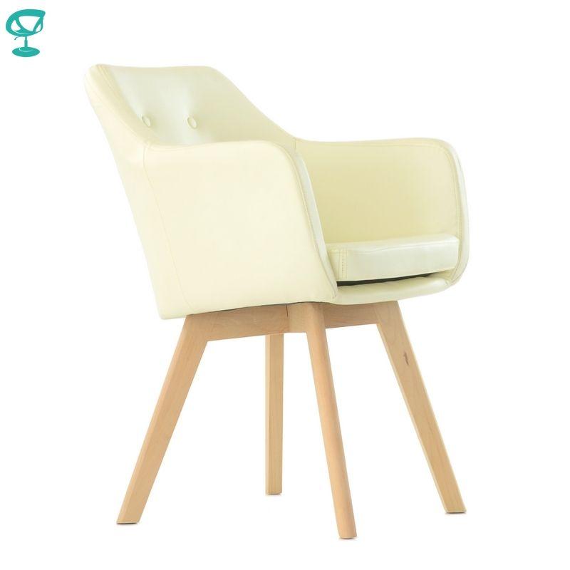 K100WdPuBeige Barneo K-100 eco-leater Innen lounge stuhl Möbel wohnzimmer stuhl holz beine Beige kostenloser versand in Russland