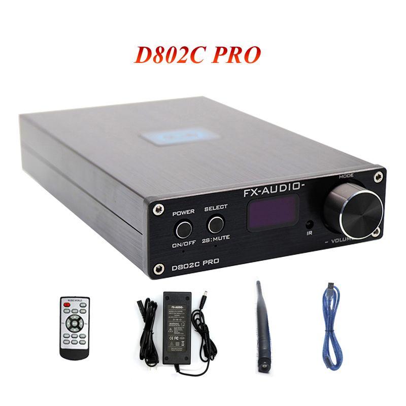 FX-Audio D802C PRO Bluetooth 4,2 Audio Verstärker 80 W * 2 Unterstützung APTX NFC USB/AUX/ optische/Koaxial Reine Audio Verstärker 24Bit 192 K