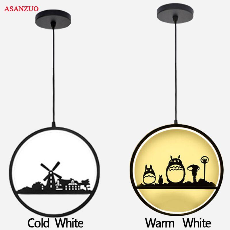 Modern Creative LED Pendant Lights Deer Chinchilla Windmill vintage Pendant Lamp Loft Bar Dining Room suspension luminaire