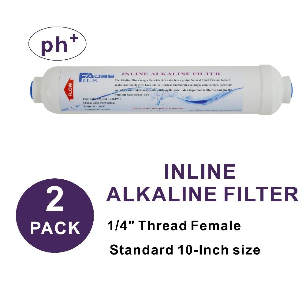 2 Pack de filtre à eau alcalin 2
