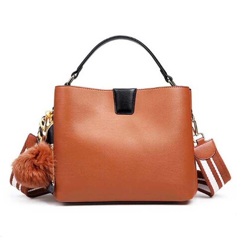 GUQIWT High Quality Real Leather Women Bag Bucket Shoulder Bags Big Women Handbag Large Tote Feminina Famous Brand