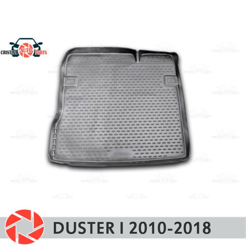 Für Renault Duster 2010-2018 stamm mat trunk boden teppiche non slip polyurethan schmutz schutz innen trunk auto styling