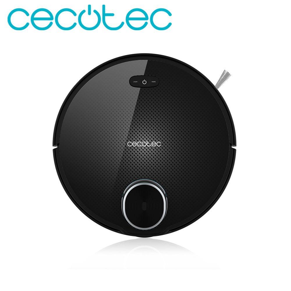 Cecotec Roboter Staubsauger Conga Serie 3090 Intelligente und Leistungsstarke für Home mit Laser iTech 360 APP Geplant Route
