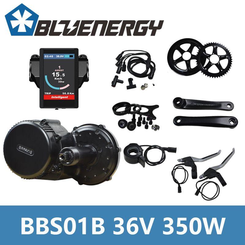 Bafang BBS01B 36v 350W Mid Crank Drive Motor Kit for eletric Bike Conversion Kit With C961/C965/850C Display
