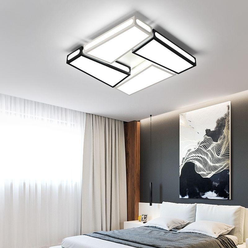 Black and White Modern Chandelier lighting led Iron 90~260V luminaria abajur for living room bedroom lamps luminarias para teto