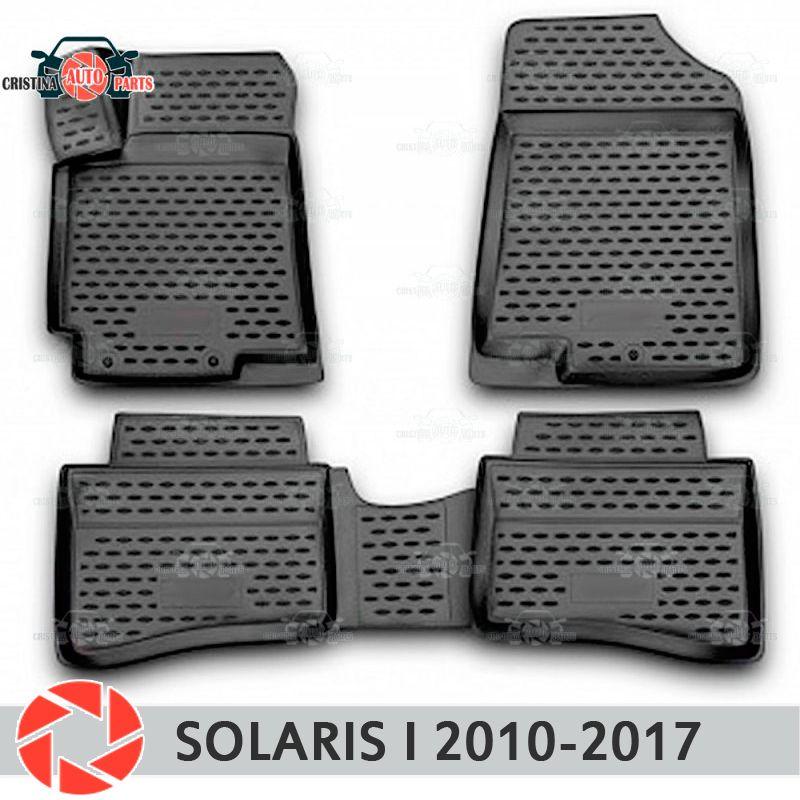 Boden matten für Hyundai Solaris 2010-2017 teppiche non slip polyurethan schmutz schutz innen auto styling zubehör