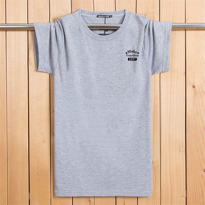 Korean men's short sleeved T-shirt summer casual men's teenage cotton trend half sleeve