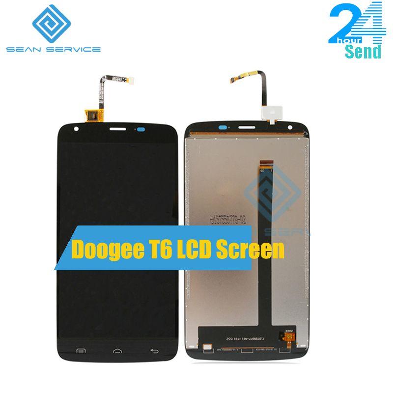 Für Ursprüngliche DOOGEE T6 LCD lcds Display + Touchscreen Digitizer Assembly Ersatz DOOGEE T6 pro 5,5 zoll 100% Getestet bildschirm
