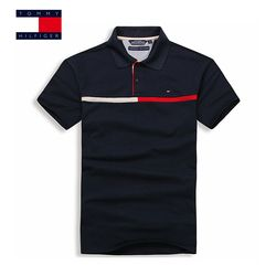 TOMMY HILFIGER Petit rayures Hommes de Polo Shirt Hommes Manches Courtes chemise sportspolo maillots golftennis Plus La Taille camisa Polo