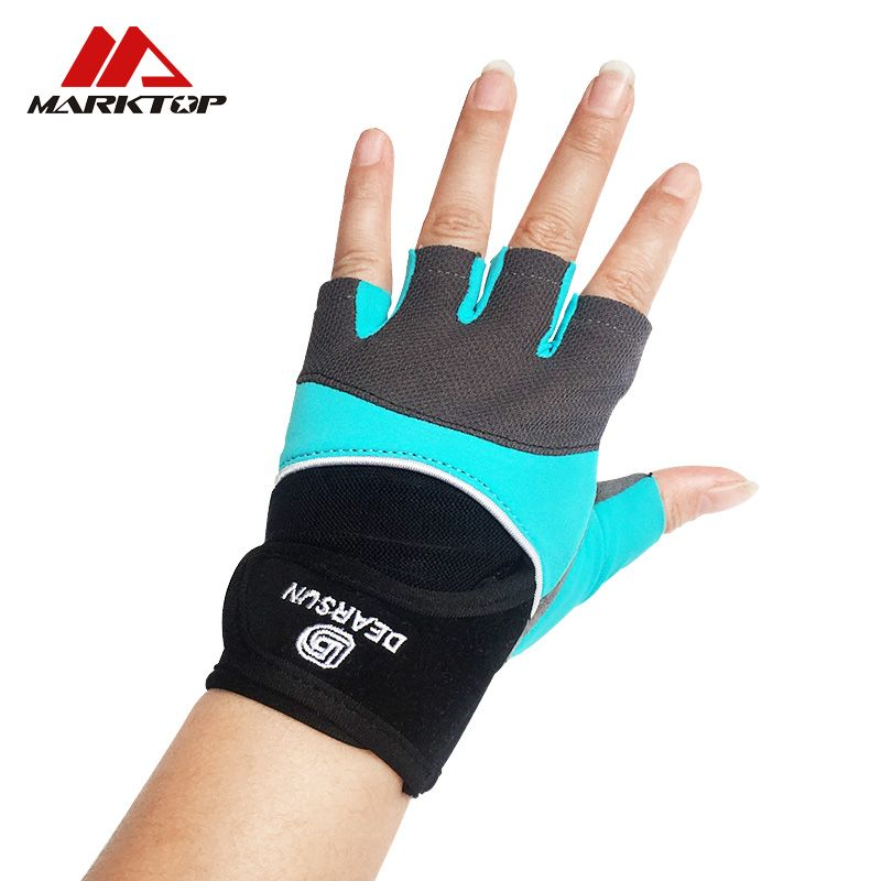 Marktop sports weightlifting gloves <font><b>dumbbells</b></font> weightlifting exercise anti-skid breathable half-finger sports training gloves.