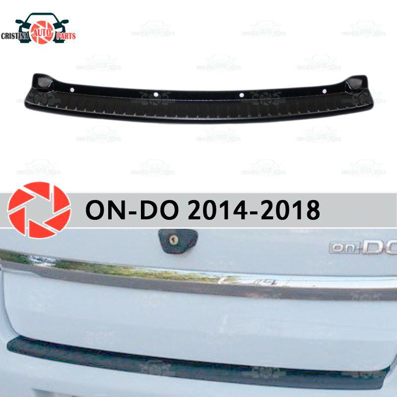 Platte abdeckung hinten stoßstange für Datsun Auf-Tun 2014-2018 schutz schutz platte auto styling dekoration zubehör molding
