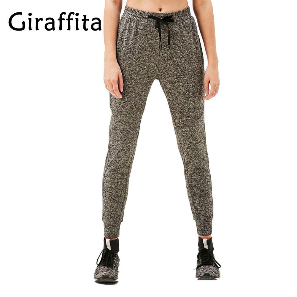 Giraffita Yoga Pants  Knitted Sports Trousers High Waist Fitness Women Fitness Gym Running Pants Sportswear Trousers