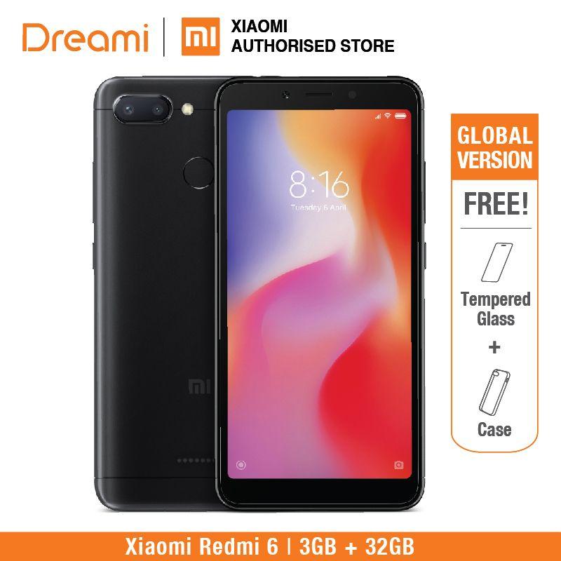 Global Version Xiaomi Redmi 6 32GB ROM 3GB RAM (Brand New and Sealed)