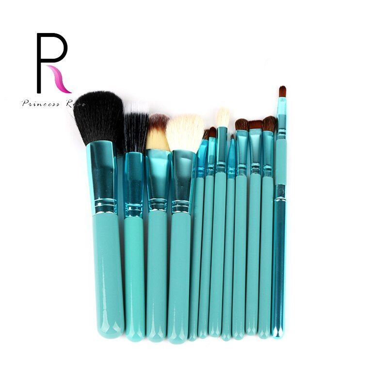Princesse Rose 12 pcs Make Up Brush Set Pinceaux de Maquillage Kit Pinceis Maquiagem Pincel Pinceaux Maquillage