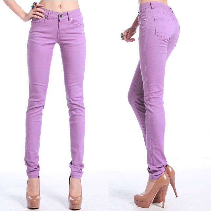 Élastique force jeans femme Denim pantalon couleur bonbon femmes Jeans Donna Stretch ms Feminino Skinny pantalon pour femmes pantalon 2018