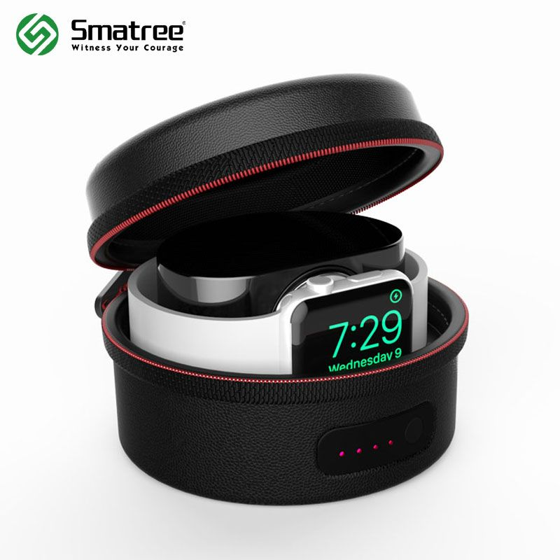 Smatree Charging Case Bag for Apple Watch Series 1,Series 2,Series 3(Not Include Original Magnetic Charging Cable),Black/White