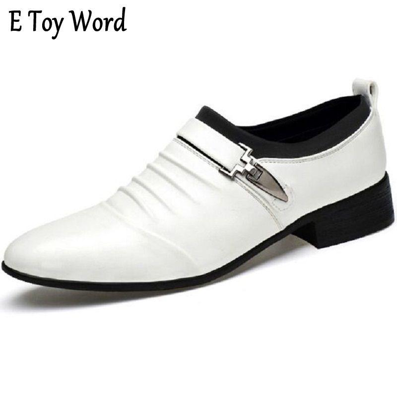La mode en cuir de loisirs hommes chaussures blanc noir fold ceinture boucle décoration conseil taille 39-44 hommes chaussures hommes de