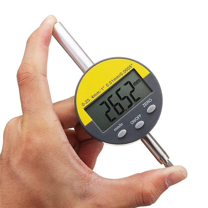 Waterproof 0-25.4mm Digital Dial Test Indicator Indicators Gauge Precision Tset Tool Indicators Dustproof Accurancy Tools