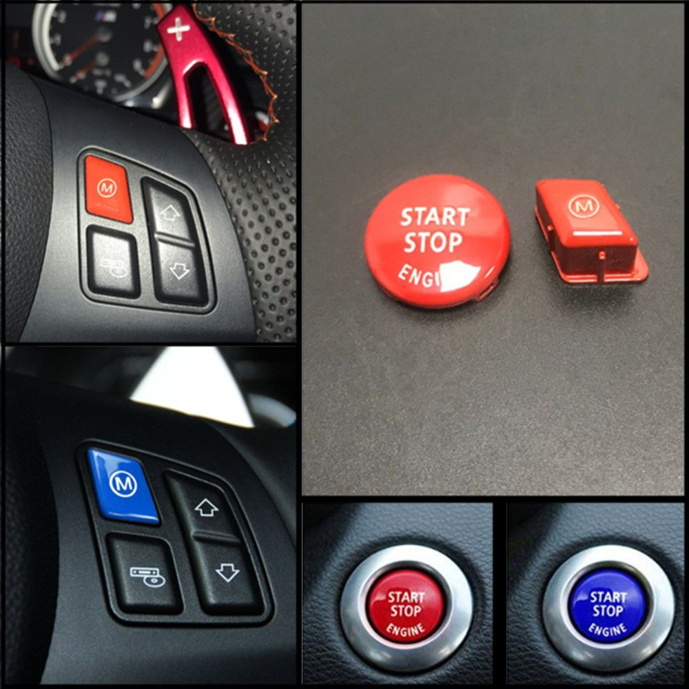 Red Sports Steering Wheel M Model Button For BMW 3 Series E90 E92 E93 M3 2007-2013 Car Accessories Replacement