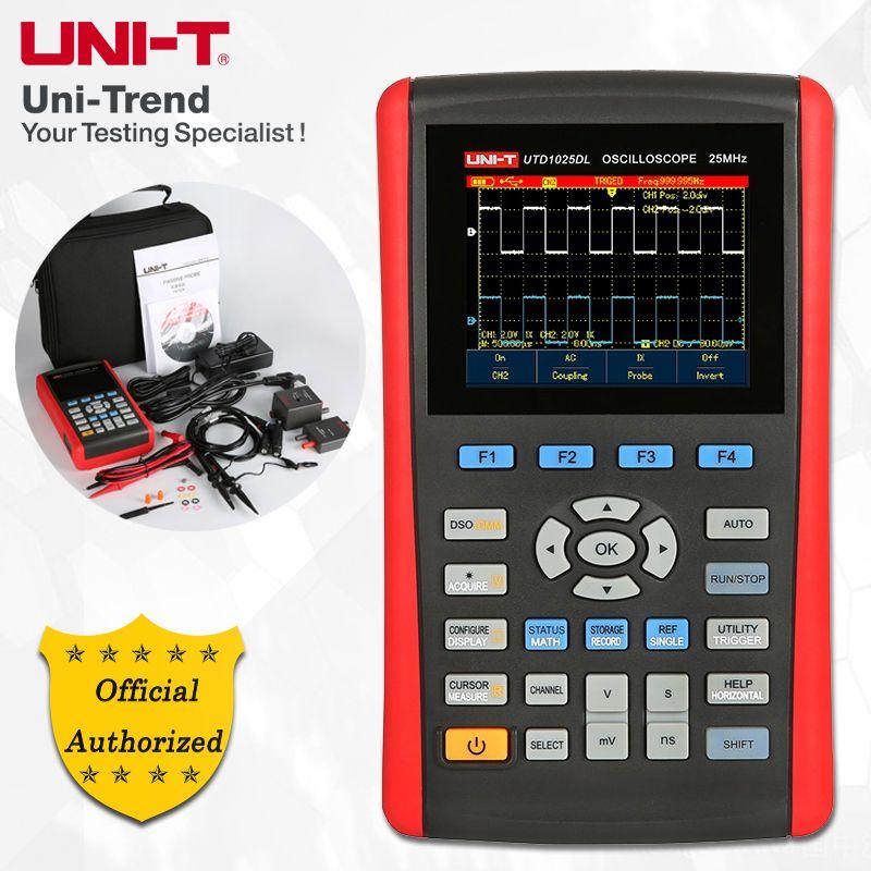 UNI-T UTD1025DL Handheld Digital Storage Oscilloscope; 2Channels, 25MHz Bandwidth, 250MS/s Sample Rate