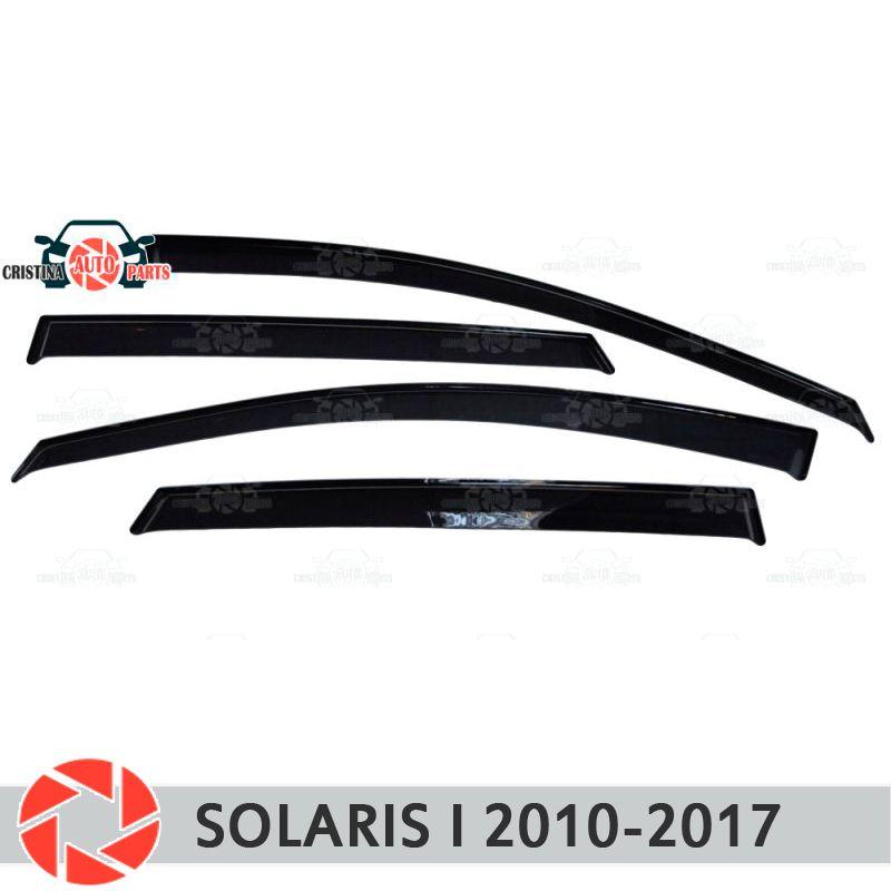 Fenster deflektoren für Hyundai Solaris 2010-2017 regen deflektor schmutz schutz auto styling dekoration zubehör molding