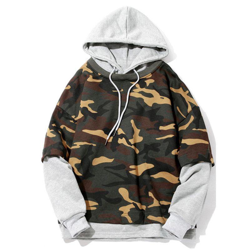 Skateboard Hoodie Armee Camouflage Gedruckt Hoodies Männer Mode Lässig Hip Hop Trainingsanzug Männliche Sweatshirt Hoody Pullover Herren Jungen