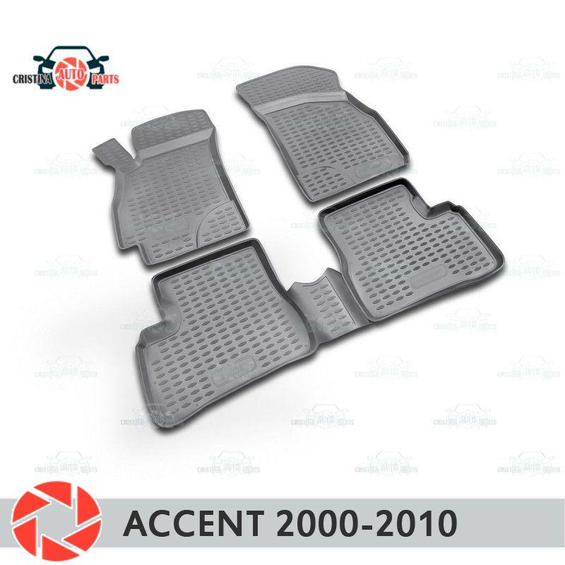 Für Hyundai Accent 2000-2010 fußmatten teppiche non slip polyurethan schmutz schutz innen auto styling zubehör