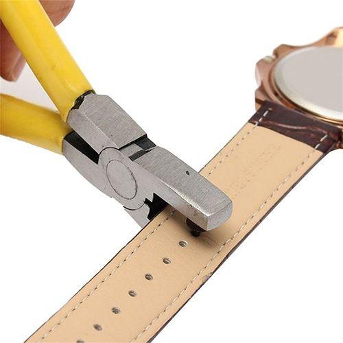 Universal 2mm Runde Leder Gürtel Uhr Band Locher Zange Schmuck Werkzeug