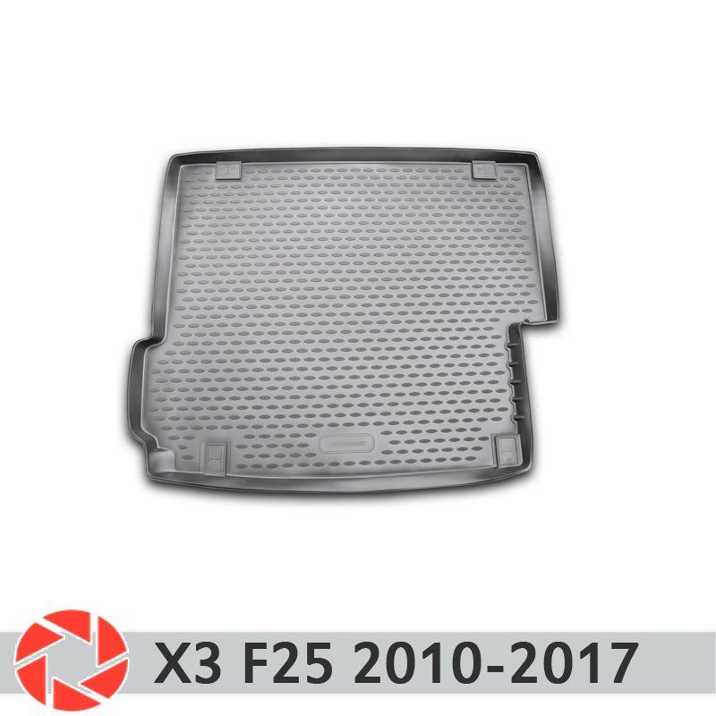 Für BMW X3 F25 2010-2017 stamm mat trunk boden teppiche non slip polyurethan schmutz schutz innen trunk auto styling