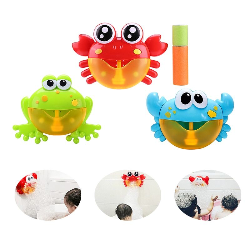 Funny Music Crab Bubble Blower Machine Electric Automatic Crab Bubble Maker Kids Bath Outdoor Toys Bathroom Toys Christmas Gifts