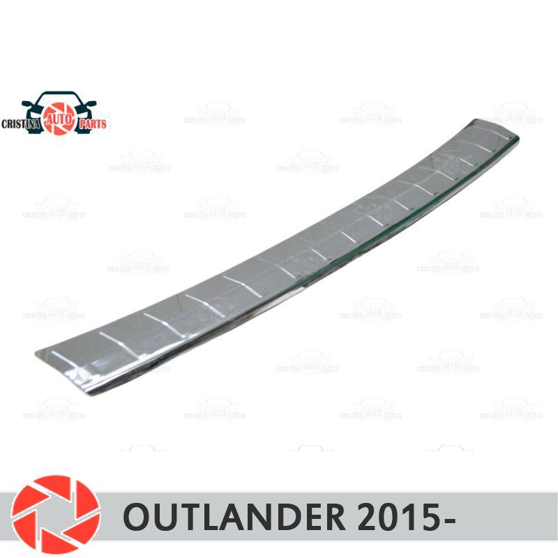 Platte abdeckung hinten stoßstange für Mitsusbishi Outlander 2015-schutz platte auto styling dekoration zubehör form stempel