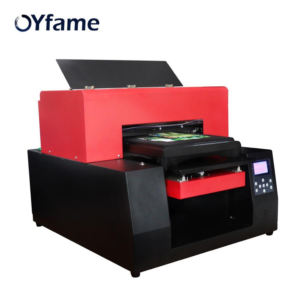 OYfame DIY T-Shirt Drucker A3 größe Flachbettdrucker Kleidung Druck Maschine für T-shirt Telefon Fall PVC Karte Leder Druck