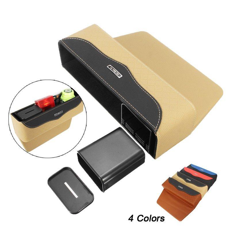 Многофункциональный Универсальный Автокресло щелевая коробка для хранения сиденья Gap держатель мешка ультра-тонкой кожи 4 цвета Стульчики ...